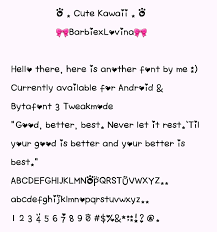 Cute Fonts For Android Pretty Fonts For Your Devices Android Iphone Anemone Fonts