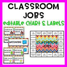 Classroom Monitors Chart Classroom Jobs Editable Chart And Labels
