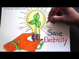 Save Electricity Chart How To Draw Save Electricity Save Energy Drawing For Kids