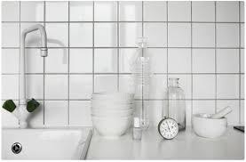 kitchen white tile gray grout