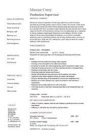 Ability Summary Resume Examples Production Supervisor Resume Skills