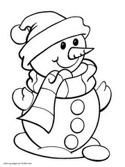 Small Picture Snowman Color Pages Snowman Coloring Page nebulosabarcom