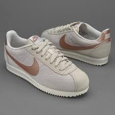 womens shoes nike sportswear womens classic cortez leather lux light bone mtlc red bronze sail 861660 001 pro direct running