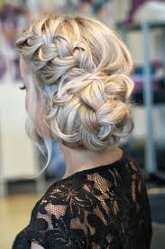 Prom Updos Hairstyle With Bangs Braided