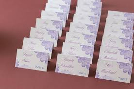 these pretty purple place cards are so easy to do yourself these table tent template