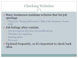 Job Qualification List Job Application Skills And Tools Ppt Video Online Download