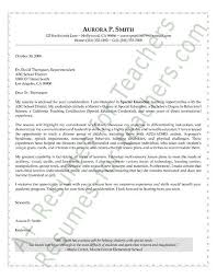 Special Education Cover Letter Sample Special Education Special
