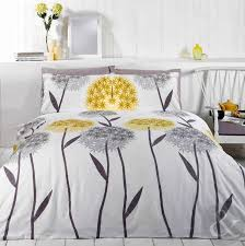 allium fl duvet cover contemporary printed white yellow grey bedding set white grey