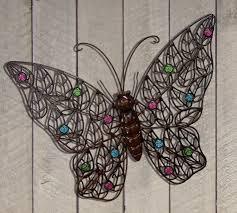 outdoor wrought iron wall art impressive erfly decor 94 garden artmakiperacom metal for