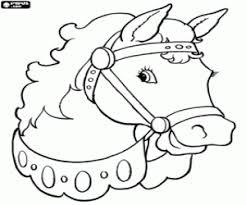Kleurplaat Hoofd Van Een Paard Met Harnas Kleurplaten