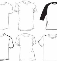 Clothes Template Round Neck T Shirt Template Vector Images 87