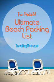 Packing Lists The Ultimate Family Beach Vacation Packing List (and Printable ...