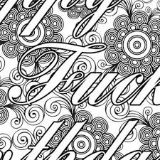 Small Picture Adult Coloring Page The swearing words from PicToGraphique on