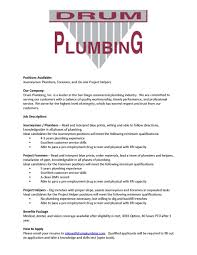 Plumber Resume Drum Plumbing Ad July Journeyman Plumbersume Objective Commercial 71
