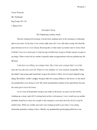 descriptive essay asthma