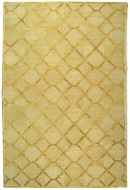 David Easton Paro Grid Citrine Gold Wool & Silk Rug and other furniture &  decor products.
