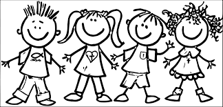 Child drawing clipart black and white child drawing clip art black happy children clipart black and white clipartxtras pertaining to happy kids clipart