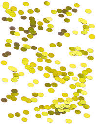 Confettis de table ronds dorés : Deguise-toi, achat de Decoration ...