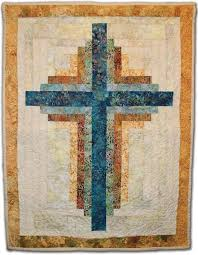 Cross Quilt Pattern Classy Small Log Cabin Cross Wallhanging Craftsy