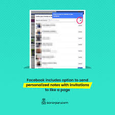 facebook includes option to send personalized notes with invitations to like a page social a marketing tips