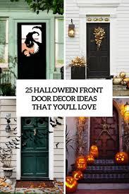 front door decor25 Halloween Front Door Dcorations That Youll Love  Shelterness