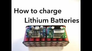 How to Charge <b>Lithium</b> Batteries - YouTube