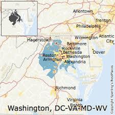 Washington-Arlington-Alexandria,District of Columbia Metro Area Map