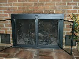 sliding fireplace screens image of fireplace screens with doors image sliding barn door fireplace screen