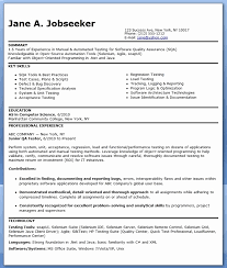 Qa Sample Resume Adorable R And D Test Engineer Sample Resume 48 Qa Cv Mayanfortunecasinous