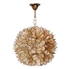 shell lotus flower chandelier for