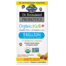 <b>Dr</b>. <b>Formulated Probiotics Organic</b> Kids+ 5 Billion CFU Shelf Stable ...