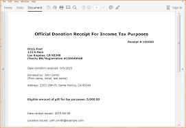 6 Non Profit Donation Receipt Letter Return Receipt Form