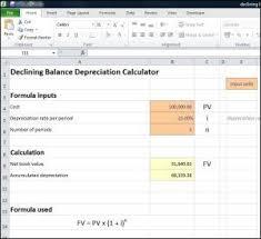 Fixed Asset Depreciation Calculator This Declining Balance Depreciation Calculator Works Out The