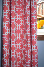 Orange Patterned Curtains