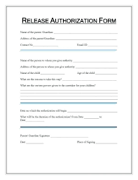 Picture Release Form Template