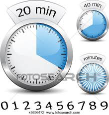 How To Make A One Minute Timer Clipart Of Vector Timer Easy Change Time Every One Minute K8696472