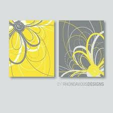 yellow and grey wall decor flower art prints flower bathroom art flower bedroom decor dahlia flower bath flower wall art flower nursery art yellow gray