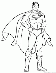 Superhero Coloring Pages