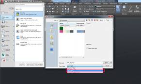 then on the autocad logo open drawing and select dxf as file type in the file browser when the model is imported you can change the visual