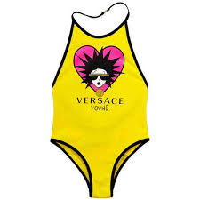 Young Versace Size Chart Young Versace Girls Yellow Medusa Swimsuit