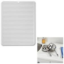 silicone dish drying mat trivet large 124 x 16 frosted white