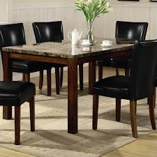 coaster telegraph marble top rectangular dining table in brown