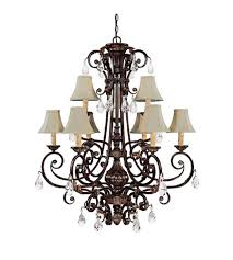 capital lighting sheffield 9 light chandelier in chesterfield brown with crystals 3689cb 413 cr