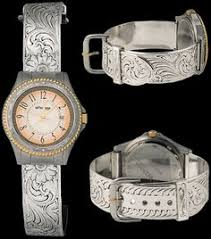 goldmountaintrading com western watches montana men s silver bright cut dress watch a stainless steel case is detailed bright silver