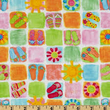 flip flop fabric for quilting | ... Fun Beach Patchwork White ... & Online Shopping for Home Decor, Apparel, Quilting & Designer Fabric Adamdwight.com