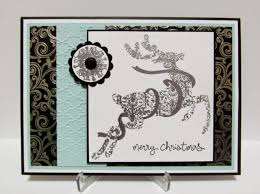 Fancy Designs For Cards Savvy Handmade Cards Fancy Deer Christmas Card For The