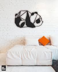 panda metal wall art