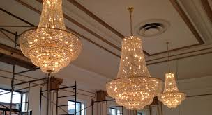 classic ballroom chandeliers group of 3