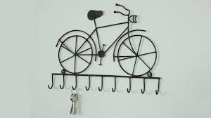 black metal bicycle vine wall hooks