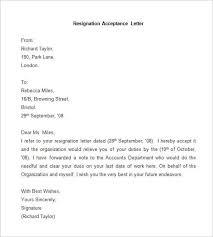 Format Of Resignation Letters Good Format Of Resignation Letter 2 Reinadela Selva